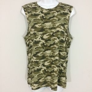 Forever 21 Womens S Studded Camouflage Tank Top